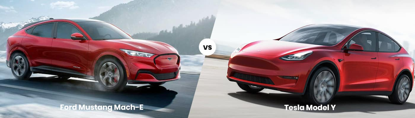 2021 Ford Mustang Mach-E vs Tesla Model Y