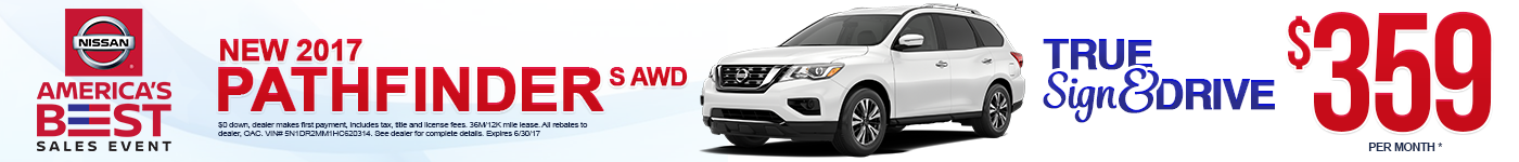 New 2017 Nissan Pathfinder Lease Special MN