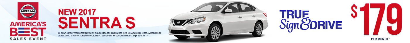 New 2017 Nissan Sentra Lease Special MN
