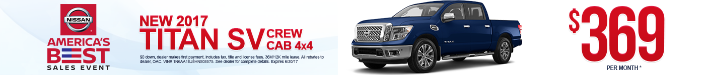 New 2017 Nissan Titan Lease Special