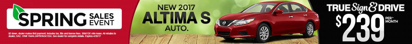 New 2017 Nissan Altima Special MN