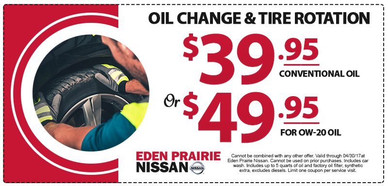 Nissan Oil Change and Rotation Special
