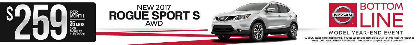 New 2017 Nissan Rogue Sport Lease Special MN