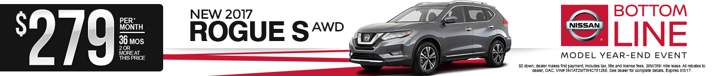 New 2017 Nissan Rogue Lease Special MN