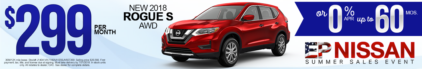 New Nissan Rogue Sport Special