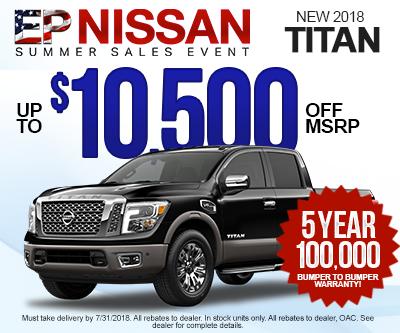New Nissan Titan Special