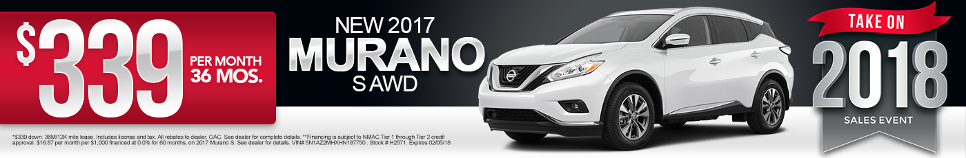 New 2017 Nissan Murano Special