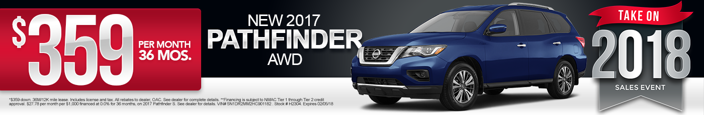 New 2017 Nissan Pathfinder Special