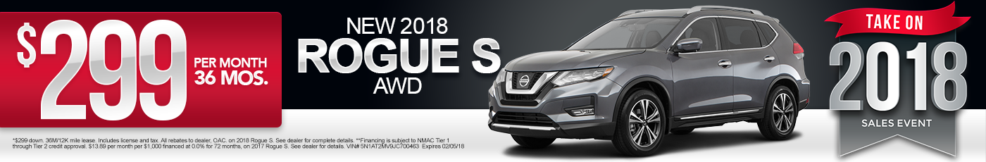 New 2017 Nissan Rogue Special