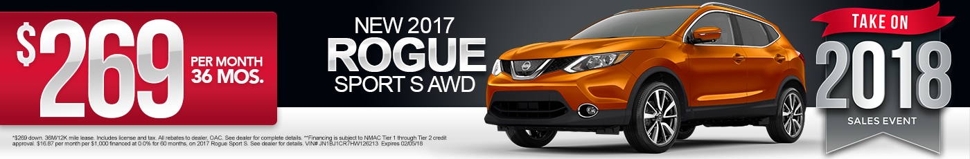 New 2017 Nissan Rogue Sport Special