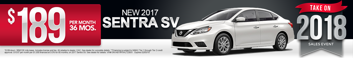 New 2017 Nissan Sentra Special
