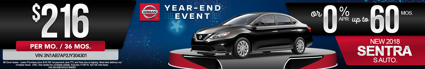 New Nissan Sentra Special Offer
