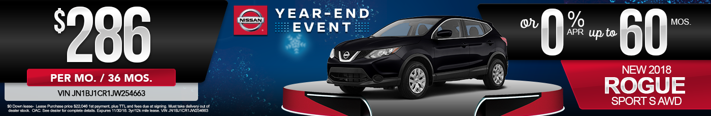 New Nissan Rogue Sport Special Offer