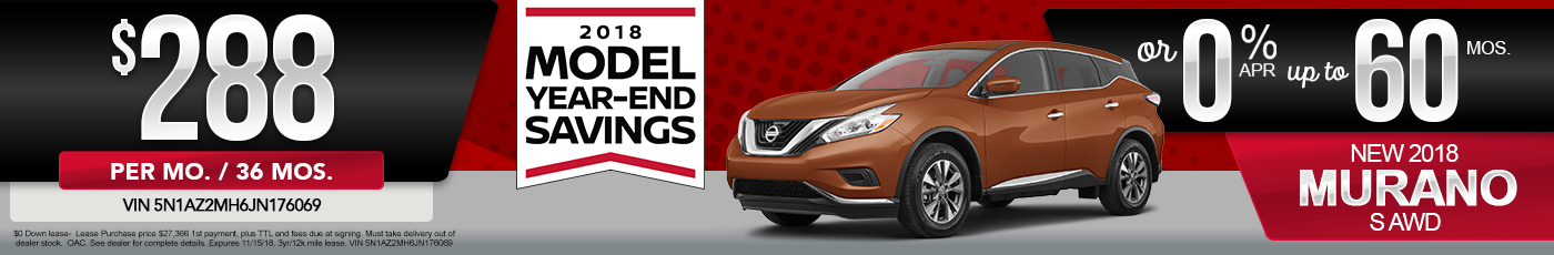 New Nissan Murano Special Offer
