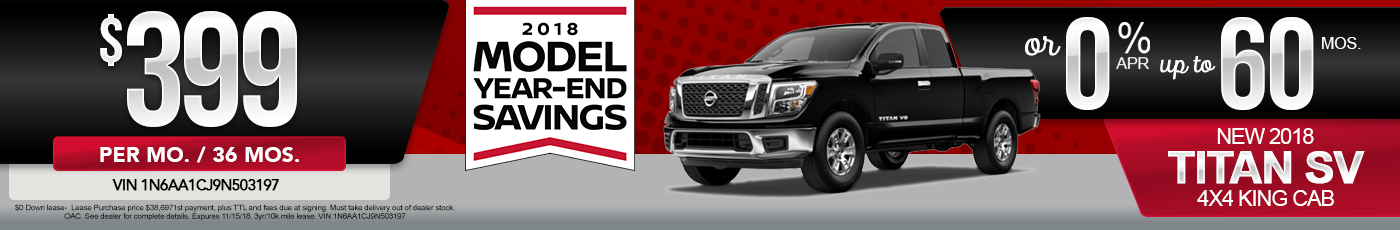 New Nissan Titan Special Offer
