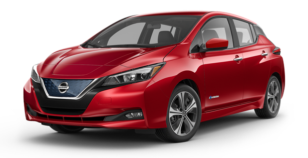 2019-Nissan-Leaf-SV-Red