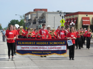 Elmhurst Middle Schools at Memorial Day Parade