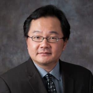 Taka Matsunaga, director of the Elmhurst College Philharmonic Orchestra