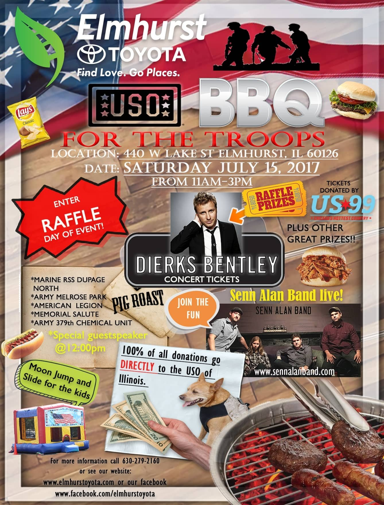 2017 USO BBQ for the Troops Flyer