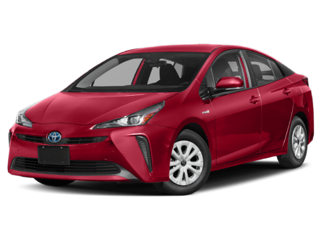 2019 Toyota Prius red angled