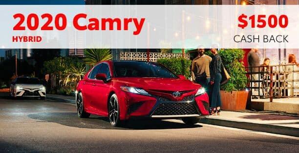 $1500 Cash Back on 2020 Camry Hybrid