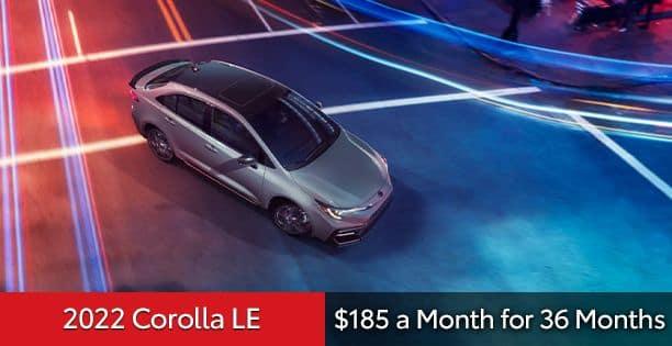 2022 Corolla LE Lease Special