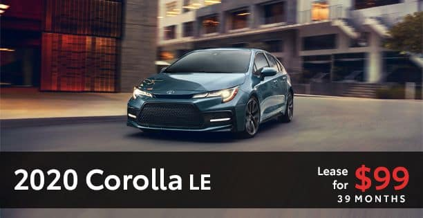 2020 Corolla Lease Special