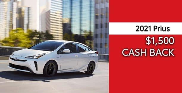 2021 Prius Cash Back Special