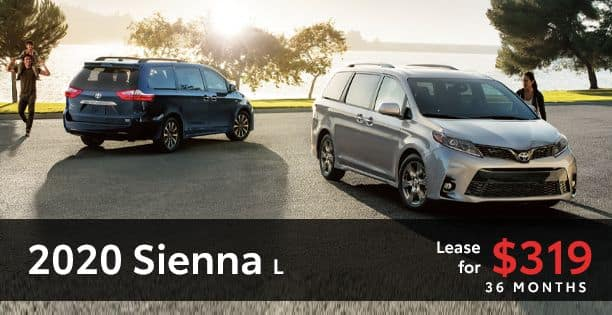 2020 Sienna Lease Special