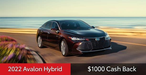 2022 Avalon Hybrid Cash Back Special