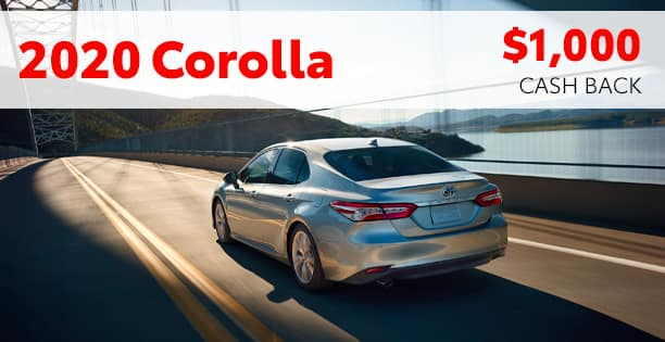 2020 Corolla Cash Back Special