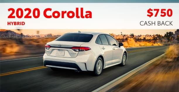 2020 Corolla Hybrid Cash Back Special