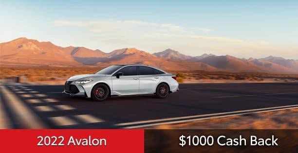 2022 Avalon $1000 Cash Back Special