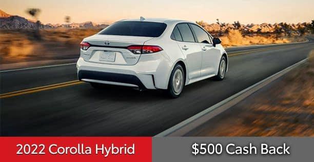 2022 Corolla Hybrid Cash Back Special