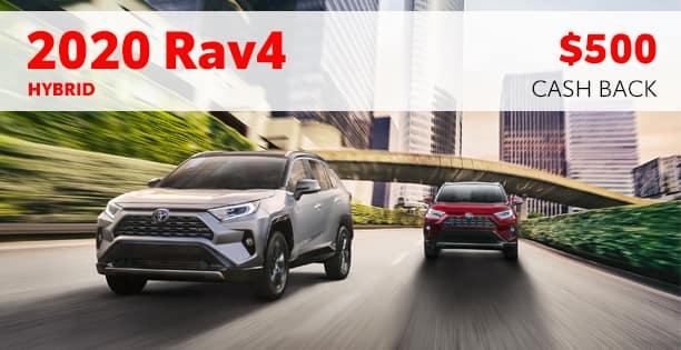 2020 Rav4 Hybrid Cash Back Special