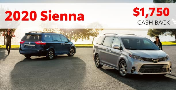 2020 Sienna Cash Back Special