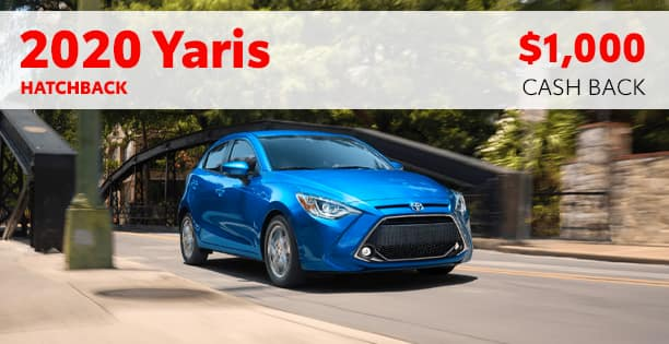 2020 Yaris Hatchback Cash Back Special