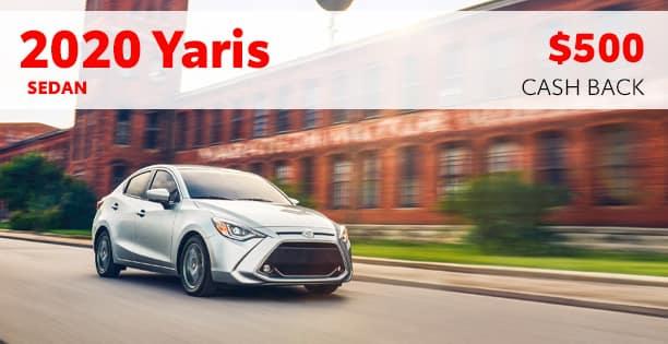 2020 Yaris Sedan Cash Back Special