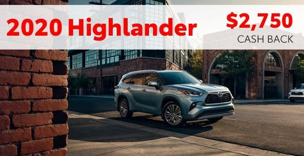 2020 Highlander Hybrid Cash Back Special