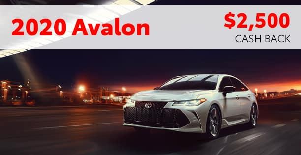 2020 Avalon Customer Cash Special