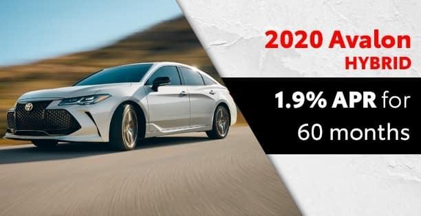 1.9% Available on Avalon Hybrids