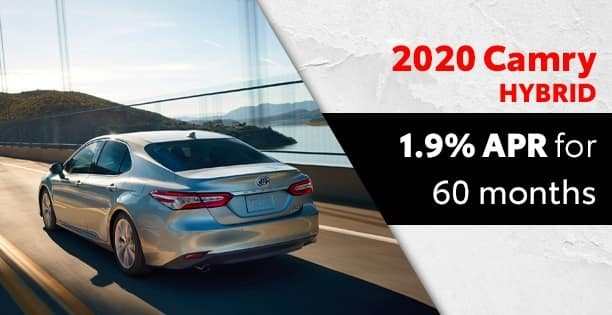 1.9% Available on Camry Hybrids