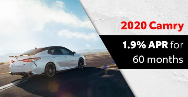 1.9% APR on the 2020 Camry