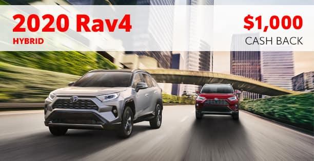 2020 Rav4 Hybrid $1000 Cash Back Special