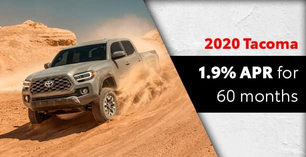 1.9% APR Available on Tacoma