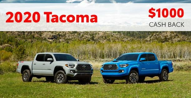 2020 Tacoma Cash Back Special