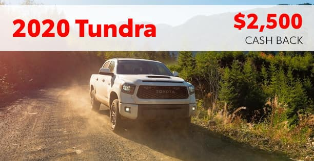 2020 Tundra Cash Back Special