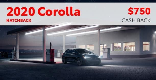 2020 Corolla Hatchback Customer Cash Special