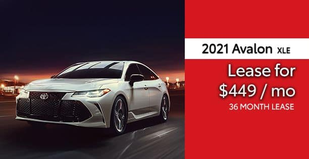 2021 Avalon XLE Lease Special