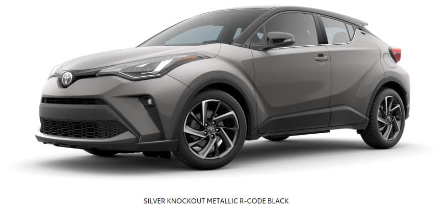 Silver Knockout Metallic R-Code Black